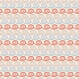 Yoga vector seamless pattern. Light blue, beige Royalty Free Stock Photos