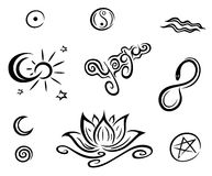 Yoga vector set Stock Images