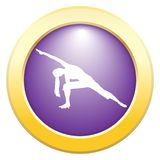 Yoga verlängerte Winkel-Haltungs-Purpur-Ikone vektor abbildung
