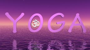 Yoga violeta stock de ilustración