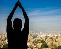 Yoga voor het Lichaam en de Mening Royalty-vrije Stock Foto