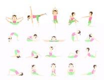 Yoga voor jonge geitjes Stock Foto