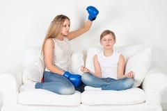 Yoga voor kinderen Royalty-vrije Stock Afbeelding