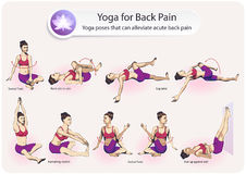 Yoga voor Rugpijn Stock Afbeeldingen