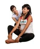 Yoga voor zwangere moeder stock afbeeldingen