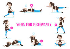 Yoga voor zwangerschap stock illustratie