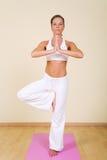 Yoga - Vrikshasana Stock Photo