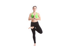 Yoga vrikshasana posture Stock Photography