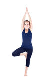Yoga vrikshasana tree pose Royalty Free Stock Photo