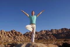 Yoga Vrkasana Stock Fotografie
