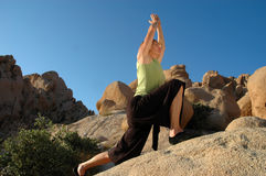 Yoga Warrior Stock Photo