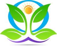 Yoga for wellness logo Royalty Free Stock Image