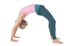 Yoga_the wheel_full Royalty Free Stock Photos
