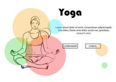 Yoga wirft, Yogahosen auf einem farbigen Hintergrund auf Stockbilder