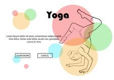 Yoga wirft, Yogahosen auf einem farbigen Hintergrund auf Lizenzfreies Stockfoto