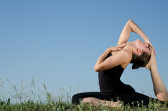 Yoga woman. Royalty Free Stock Photo