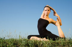 Yoga woman. Royalty Free Stock Images
