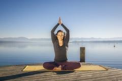 Yoga woman Royalty Free Stock Image