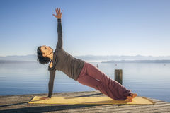 Yoga woman Royalty Free Stock Images