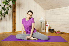 Yoga woman Royalty Free Stock Photo
