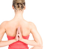 Yoga woman Royalty Free Stock Image
