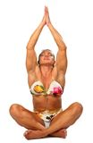 Yoga woman bodybuilder Stock Images