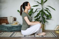 Yoga workout royalty free stock images