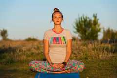 Yoga woman Stock Photography