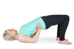 Yoga woman green position_62 Stock Photos