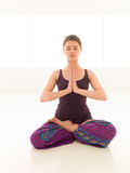 Yoga woman lotus Royalty Free Stock Images