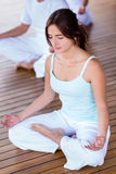 Yoga woman meditating Royalty Free Stock Photography