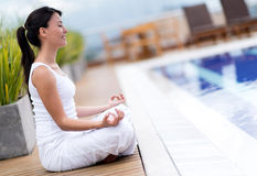 Yoga woman meditating Royalty Free Stock Image