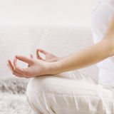 Yoga Woman Meditating Relaxing Healthy Lifestyle Royalty Free Stock Photos