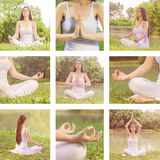 Yoga Woman Meditating Relaxing Healthy Lifestyle Royalty Free Stock Photography