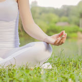 Yoga Woman Meditating Relaxing Healthy Lifestyle Royalty Free Stock Image