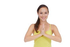 Yoga woman meditation Stock Photography