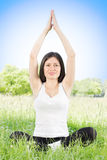 Yoga woman nature Stock Images