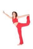 Yoga woman on one leg Royalty Free Stock Image