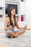 Yoga Woman Relax Healthy Lifestyle Stock Photo