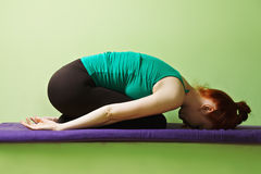 Yoga woman at rest Royalty Free Stock Photo