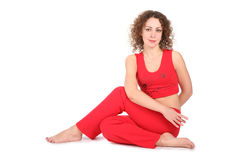Yoga woman sit Royalty Free Stock Photo