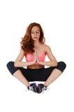Yoga woman sitting. Royalty Free Stock Image