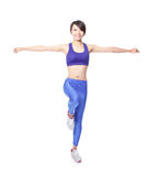 Yoga woman standing balance Royalty Free Stock Photography