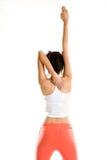 Yoga woman stretch hand straight Royalty Free Stock Photos