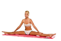 Yoga Woman Stretching Royalty Free Stock Photos
