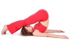 Yoga woman stretching Royalty Free Stock Photo
