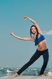 Yoga woman stretching Royalty Free Stock Image
