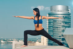 Yoga woman stretching Stock Photo