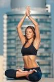 Yoga woman stretching Stock Photo