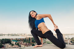 Yoga woman stretching Stock Photography